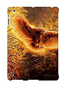 Rthrlf-830-zvzmfdp Tough Ipad 2/3/4 Case Cover/ Case For Ipad 2/3/4(wings Trees Forest Owls ) / New Year's Day's Gift