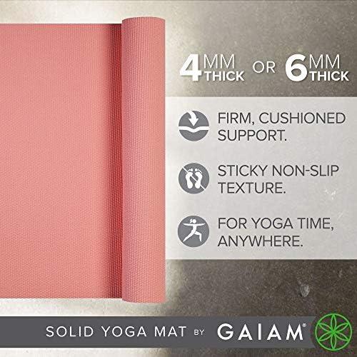 Amazon.com: Estera de yoga Gaiam solida: Sports & Outdoors