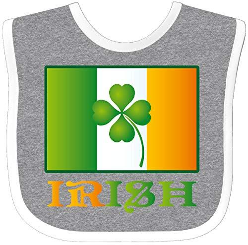 Inktastic - Irish Flag Clover St Patricks Baby Bib Heather/White - Patricks Baby Bib