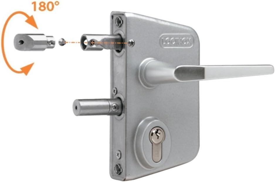 LOCINOX Serrure type industriel pour profils carr/és de 60 /à 80 mm en RAL 9005 avec 3006M