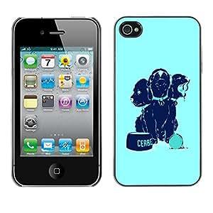 Cubierta de la caja de protección la piel dura para el Apple iPhone 4 / 4S - Cool Funny Dogs Food Cute