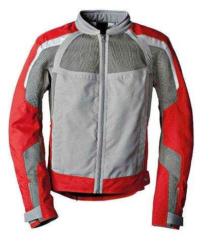 Bmw Riding Jackets - BMW Genuine Motorcycle Riding Men'S Airflow Jacket EU-58 |USA-48 Grey Gray / Red