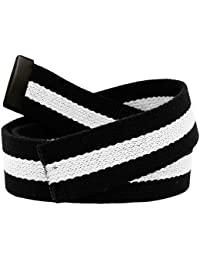 Replacement Canvas Web Belt 1.25 Military Width Black Tip