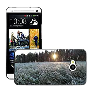 Hot Style Cell Phone PC Hard Case Cover // M00308723 Frost Winter Cold Season Icy Frozen // HTC One M7