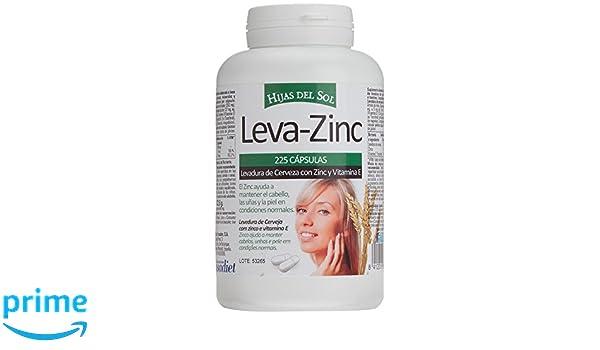 LEVA ZINC Complemento alimenticio de zinc, levadura de cerveza y vitamina E para ayudar a prevenir la caída del cabello también bueno para cabello piel y ...