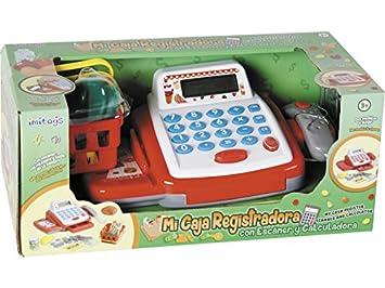 IMITOYS Caja Registradora con Calculadora, Escáner, Luces, Sonidos y Accesorios 10x23x15cm: Amazon.es: Juguetes y juegos