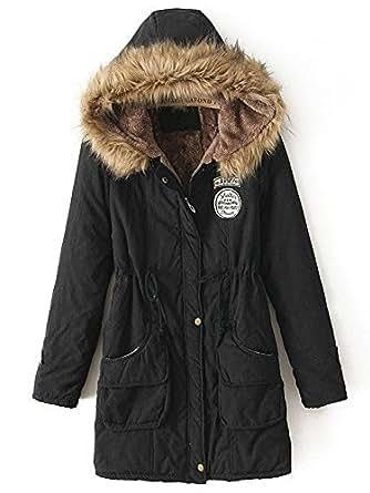 Amazon.com: Zando Women's Faux Fur Lined Hooded Parka