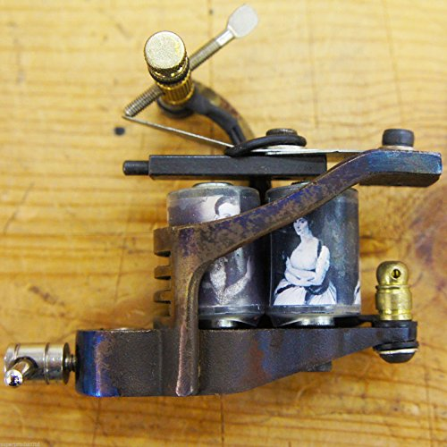 OLD SKOOL custom Steel 10 wrap coil Left TATTOO gun MACHINE supply SHADER liner