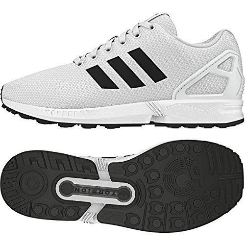 adidas Mens ZX Flux Synthetic Running Shoes Ftwwht,ftwwht,ftwwht
