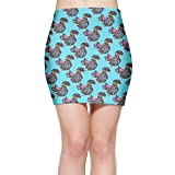 SKIRTS WWE Floral Squirrel Women's Sexy High Waisted Mini Short Skirt
