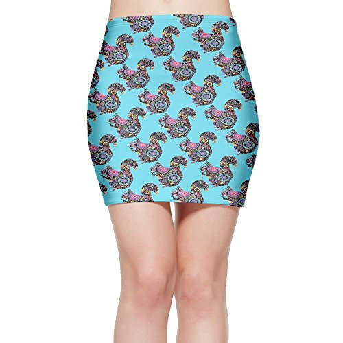 SKIRTS WWE Floral Squirrel Women's Sexy High Waisted Mini Short Skirt by SKIRTS WWE