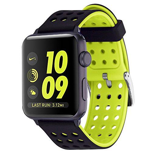 Moretek Wristband Replacement Smartwatch BlackYellow