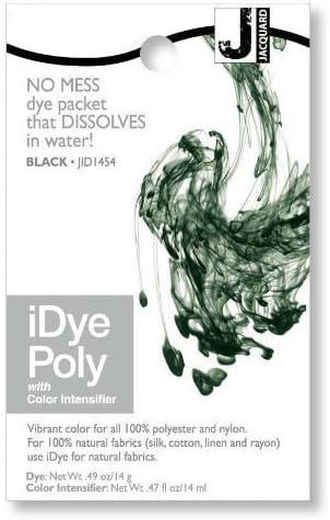 Jacquard iDye Poly - Tinte de tejidos para poliéster y nailon (vario colores disponibles) - Negro