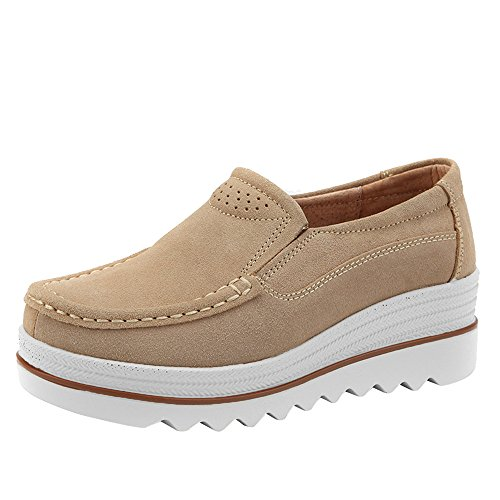 Bottes Kaki Sport En Baskets Filles Dames Muffin Creepers Slipper Adolescents Mocassins De Cuir Hcfkj Femmes Chaussures Flats lgant TxqqC5