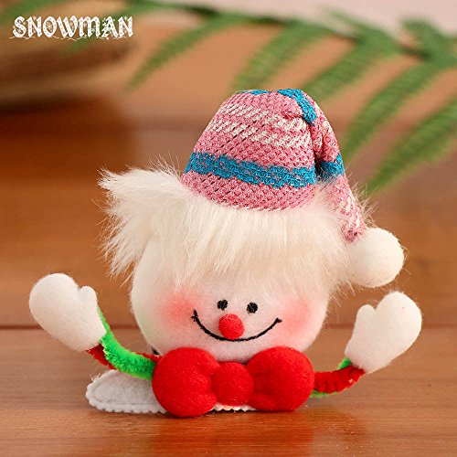 Santa Barrette Clip Dress Hair Luminous Snowman Christmas Claus Hair Hairpin Kid Baby wxw0gIU