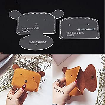 Leather Templates | Amazon Com Nw Coin Purse Acrylic Template Leather Pattern Acrylic