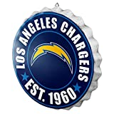 Los Angeles Chargers NFL Bottle Cap Wall Sign