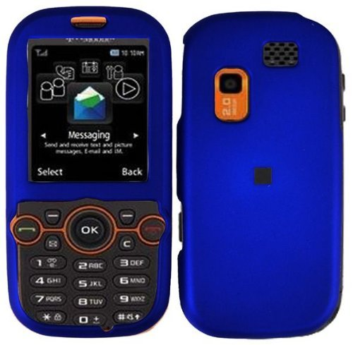 Blue Hard Case Cover for Samsung Gravity 2 II T469 T404G ()