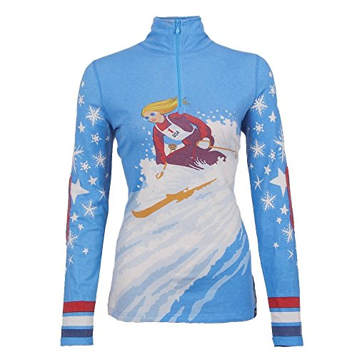 Neve Designs Womens U.S. Ski Team Wool-Blend Pullover, L, Blue