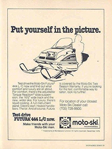 1978 Moto Ski 444L/C Snowmobile Ad