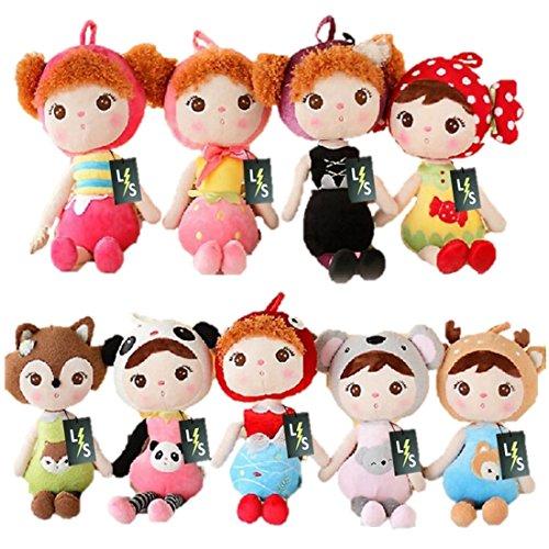 [LightningStore Cute Girl Wearing Elephant Panda Fish Fox Deer Bee Candy Strawberry Clothes Shirt Costume Doll Realistic Looking Stuffed Animal Plush Toys Plushie Children's Gifts] (Axolotl Costume)