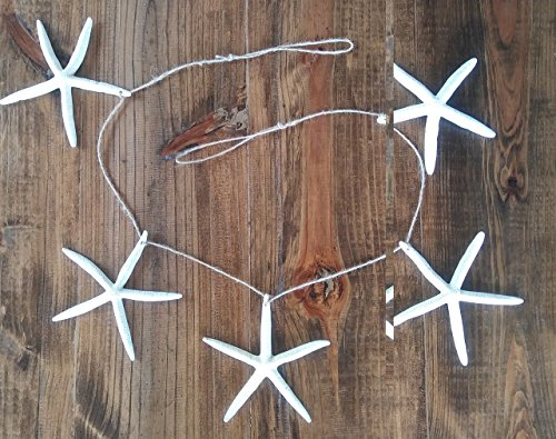 Large-White-Finger-Starfish-Beach-Garland-Coastal-Shell-Wall-Home-Mantle-Decor