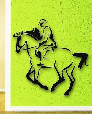 Wall Stickers Vinyl Decal Rider Horse Polo Equestrian Sports VS282