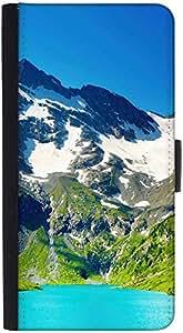 Snoogg funda tipo cartera funda tipo libro con tapa y ranuras de tarjeta de crédito, Efectivo, soporte, cierre magnético negro de bolsillo para Apple iPhone 6S