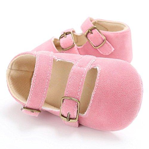 Igemy 1Paar Baby Schuhe Jungen Mädchen Neugeborene Krippe Soft Sole Schuh Sneakers Pink