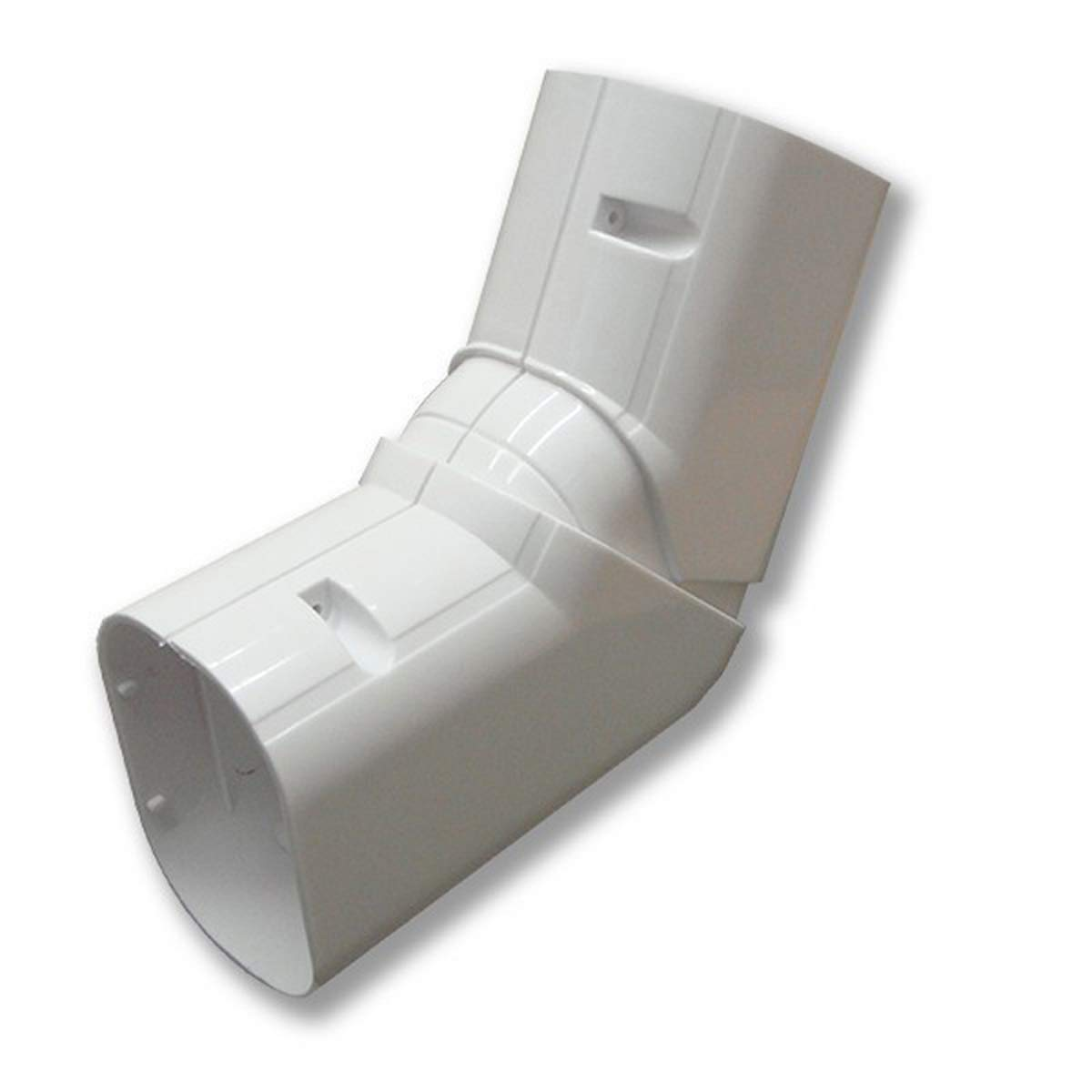 DuctlessAire 4'' line set cover 120-90 Degree horizontal adjustable elbow