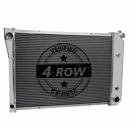 Primecooling 4 Row All Alumimum Radiator for Apollo, Nova, Omega, Ventura 1973-74 (29'' Overall Wide) (3 4 Nova Adaptor)