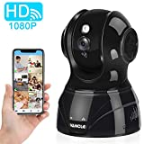 Vancle Wireless IP Camera 1080p HD with Motion Detection Night Vision Two Way Audio Pan/Tilt/Zoom Supports 2.4G WiFi for Home Surveillance Baby Pet Monitor, Compatible with Alexa (1080P - Black)