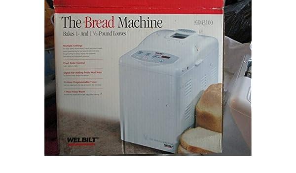 amazon com welbilt the bread machine model abm3100 kitchen rh uedata amazon com Wel-Bilt ABM4100T Parts Welbilt Bread Machine Models