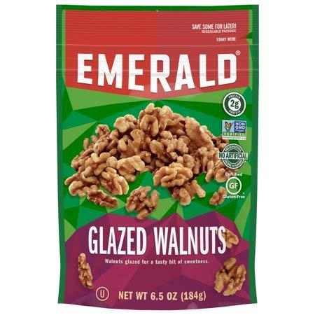 Emerald Glazed Walnuts 6.5 Ounce ( 2 Pack) by Emerald