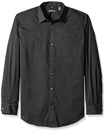 Van+Heusen+Men%27s+Traveler+Stretch+Blacks+Non+Iron+Long+Sleeve+Shirt%2C+Stripe+Black%2C+Large