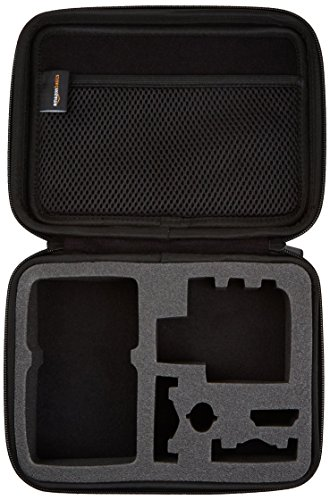 AmazonBasics Small Carrying Case for GoPro And Accessories - 9 x 7 x 2.5 Inches, Black