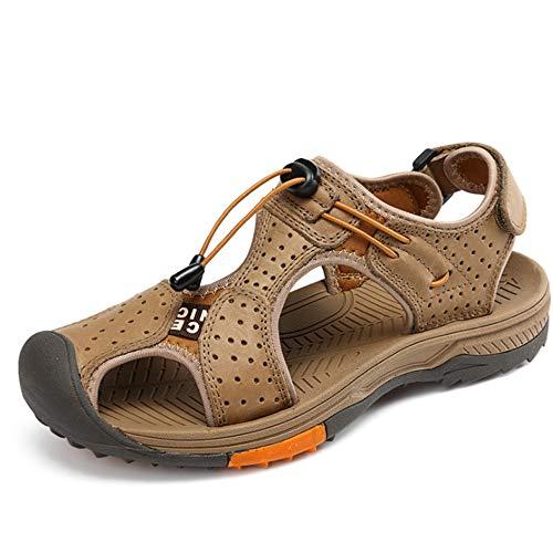 Scarpe Scarpe Sandali 27 Marrone CM pantofole 0 Outdoor da 24 Da Wagsiyi Casual spiaggia In Pelle Uomo 0 Collision Traspiranti Scarpe Sandali UwZxE