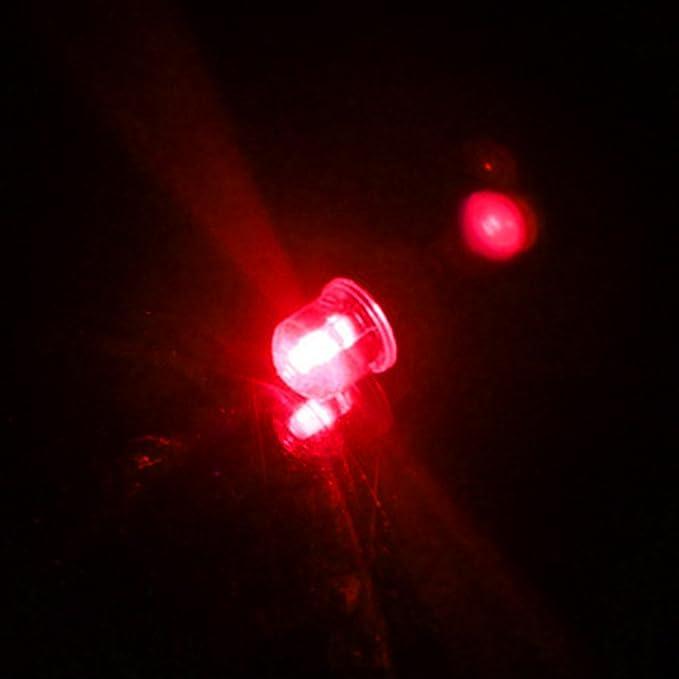 Pezzi Bici Auto Moto Ruota Luce Tappi valvola del Pneumatico Neon Flash LED Luce della Lampada di Sicurezza Spia con 6pcs batterie a Bottone AG10/ Blu SYN Auto Pneumatico Ruota luci
