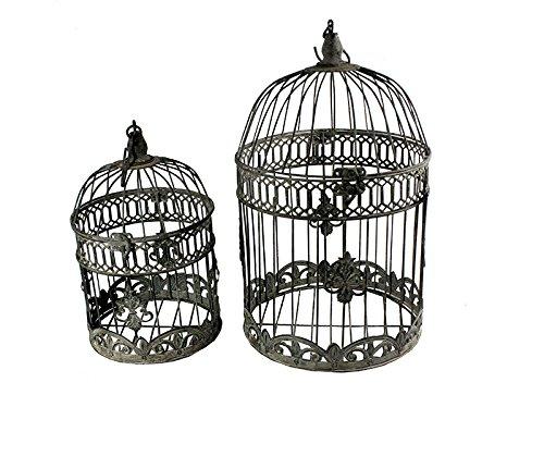 Benzara ETD-EN15056 Artistic Bird Cage Metal Candle Holder,