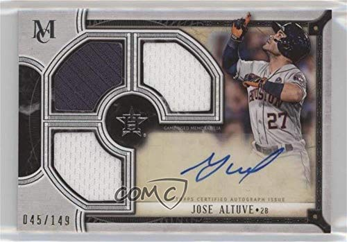 - Jose Altuve #/149 (Baseball Card) 2018 Topps Museum Collection - Signature Swatches Triple Relic Autographs #TRA-JA