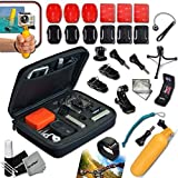 Cheap Xtech® Camera ACCESSORIES KIT for GoPro HERO4 Hero 4, Hero3+ Hero 3+, HERO3 Hero 3, HERO2 Hero 2, HD Motorsports HERO, Surf Hero, GoPro Hero Naked, GoPro Hero 960, GoPro Hero HD 1080p, GoPro Hero2 Outdoor Edition Digital Cameras Includes: Medium size Custom Camera CASE + Hermetically Sealed Floating Bobber + GoPro Head Mount for Tripod and Monopods + 3 Flat Adhesive Surface Stickers and Mounts + 3 Curved Adhesive Stickers and Mounts + Helmet Front Mount + MORE