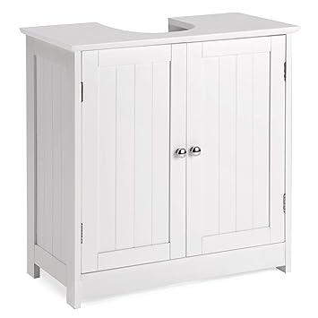 Christow Under Sink Bathroom Cabinet, White Wooden Basin Unit ... on