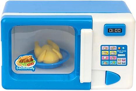 Juguetes para casa de muñecas para niños, minisimulación, máquina de Coser, Ventilador de Nevera, Muebles, Juego de Juguetes para niños y niñas, Accesorios para muñecas, plástico, Microwave Oven#: Amazon.es: Hogar