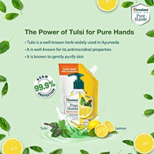 Himalaya Pure Hands | Deep Cleansing Tulsi and Lemon Hand Wash Refill – 750 ml