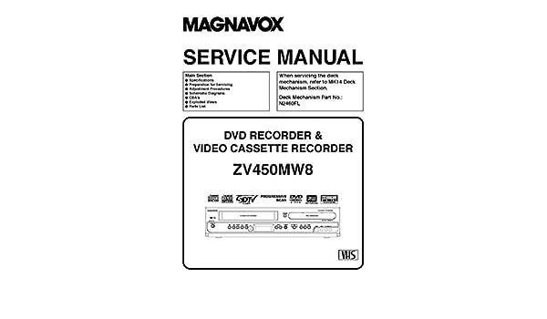 ZV450MW8 SERVICE MANUAL: MAGNAVOX, FUNAI: Amazon com: Books