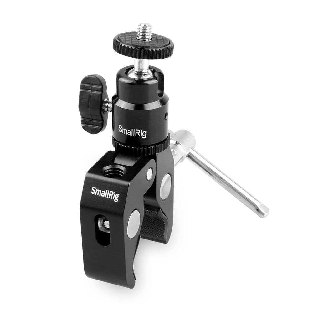 SMALLRIG 1124 Clamp Mount with Ball Head Mount Hot Shoe A...
