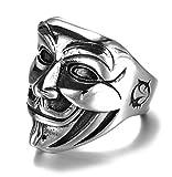 Biker Rings For Men,Harley Rings For Men,Punk Retro Skull Rings for Men,Titanium Steel