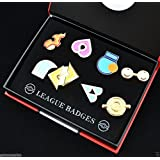 Pokemon Gym Hoenn League Badge Pin Set of 8 for Cosplay NEW by Djfungshing
