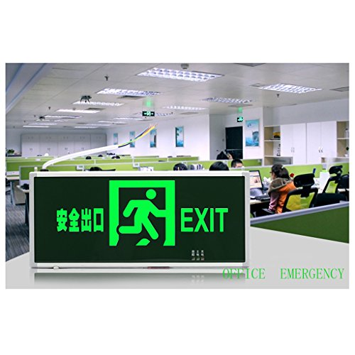 Emergency lights safety exit lights light led plug fire emergency lights evacuation signs lights ( Color : Dark green-1 ) by Baoduohui (Image #4)