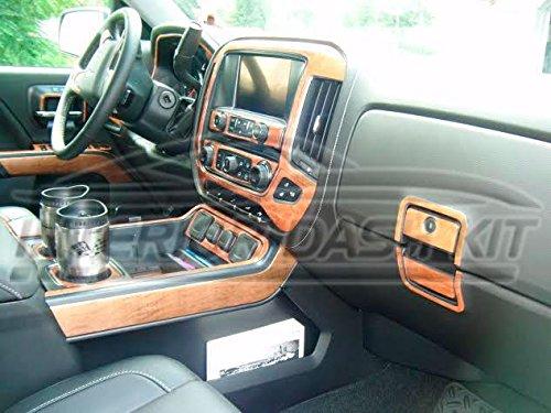 CHEVY CHEVROLET SILVERADO LTZ Z71 INTERIOR BURL WOOD DASH TRIM KIT SET 2014 2015 2016 2017 (Chevrolet Silverado Ltz)